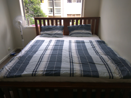 King size bed with mattress only one month old