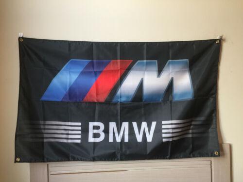 BMW M Power Logo Car Black Flag banner 3x5 ft Garage Adversting Customization