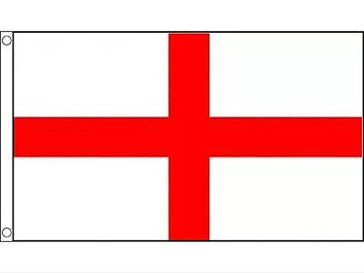 Large England St George Cross Flag 5ft x 3ft Football Rugby Pubs Premium Quality