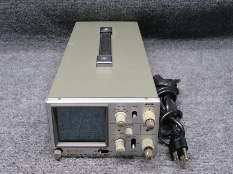 Hitachi V-099 Waveform Monitor Vintage CRT Oscilloscope *Tested Working*