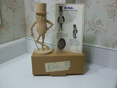 Vintage Rare MAUVE Color Planters Peanuts Mr Peanut Bank And Box And Order Form