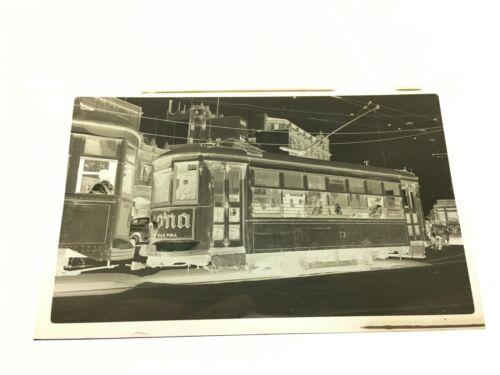 ORIGINAL 1949 MEXICO CITY TROLLEY STREETCAR NEGATIVE  #73 MEXICO