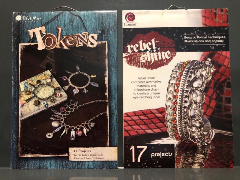 Lot of 2 Jewelry Making books-  Blue Moon Beads 2008 Cousin Rebel Shine 2010