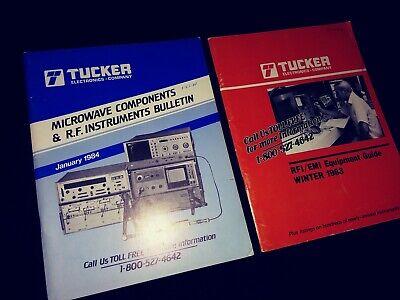 2 Vintage Tucker Electronic Test Equipment Catalogs Rfi Emi Microwave 1983 1984
