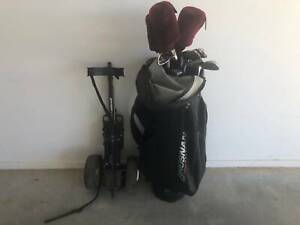 Brosnan Golf Clubs Bag and Buggy
