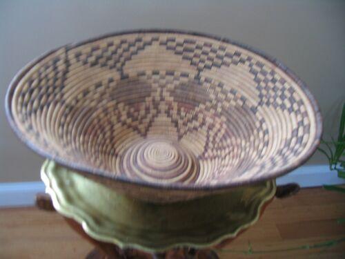 Basket African Botswana  Weaved Vintage 1975 Pre-owned