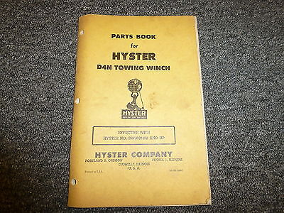 Hyster Bwn Towing Winch For Cat D4 Tractor Parts Catalog Owner Operator Manual