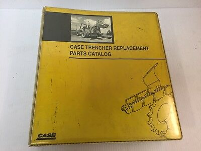 Case Trencher Parts Catalog Dealer Manual - Covers Multiple Models