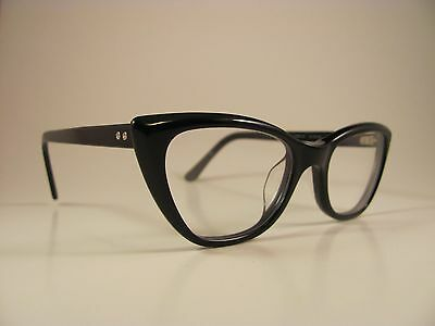 Converse Jack Purcell P006 Black Glossy Cat-Eye RX Eyeglass Frames /w Case