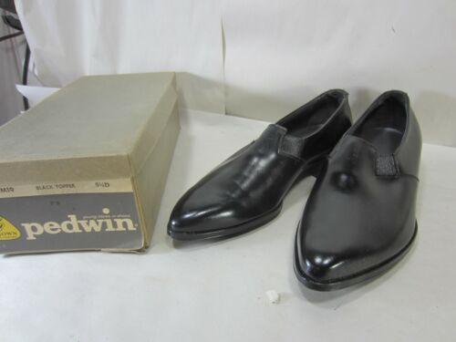 Vintage Pedwin Black Leather Mens Shoes NOS Size 9 1/2 D