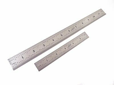 Igaging 6 And 12 4r 118 116 132 164 Stainless Machinist Ruler Rule