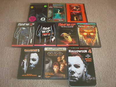 HORROR Movie DVD LOT Halloween 4 Tin 5 H20 Nightmare Elm Street Friday the - The Movie Halloween H20