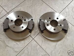 VAUXHALL VECTRA C  (02-) TWO REAR SOLID BRAKE DISCS AND A SET OF FOUR BRAKE PADS