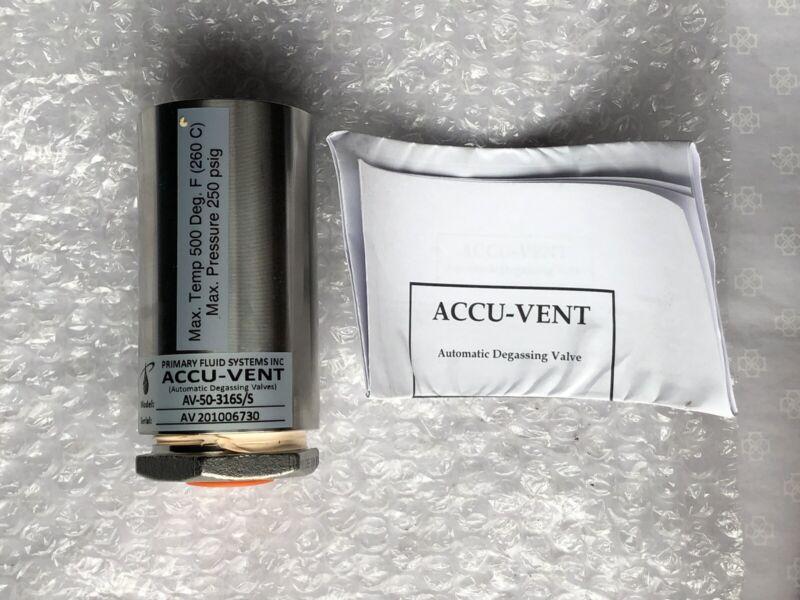 ACCU-VENT Automatic Degassing Valve AV-50-316S/S (316 Stainless)
