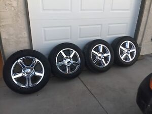 """Chevrolet 20"""" avalanche rims and tires"""
