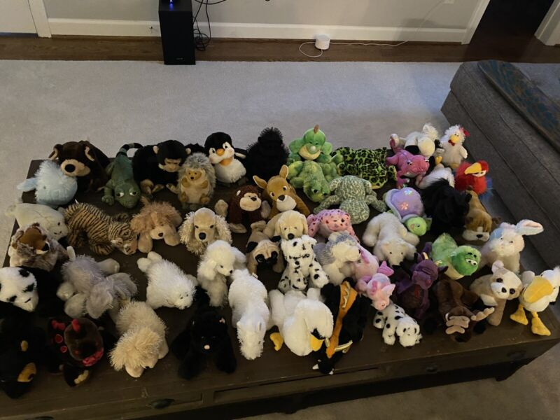 Lot Of 51 Webkinz And Signature Plush No Tags Pre Owned RETIRED RARE