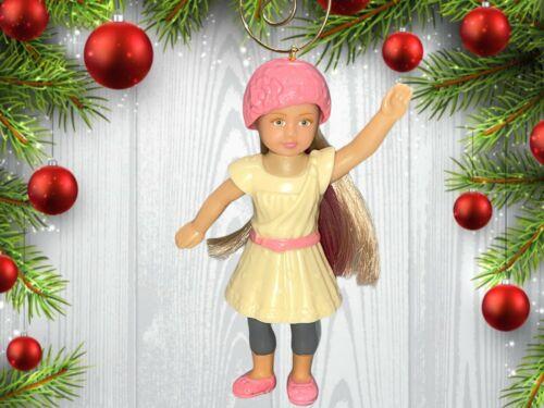 "American Girl Doll 3.5"" Custom Christmas Tree Ornament"