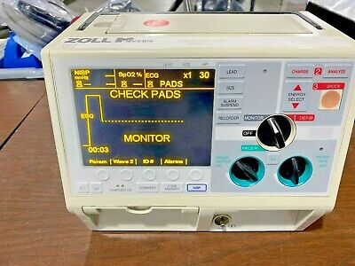 Zoll M Series Monophasic 3-lead With Pacing Spo2 Blood Pressure And Aed