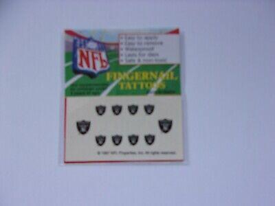 4 packs of Oakland Raiders Fingernail Tattoos. 10 per pack. 40 total.  #JS104](Raiders Tattoos)