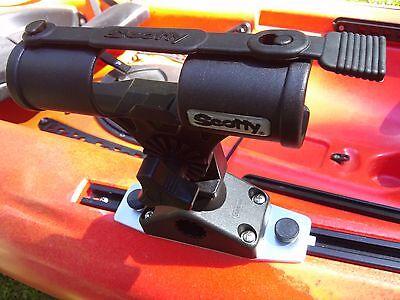 Scotty Fly Rod Holder for Native & Evoke Kayak Slide Rail Track