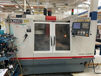 Cincinnati Arrow 1000 Erm Cnc Vertical Machining Center Fanuc 18i