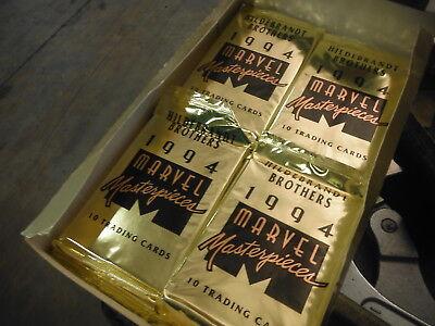 10 Sealed Packs - Hildebrandt Brothers 1994 Marvel Masterpieces trading cards