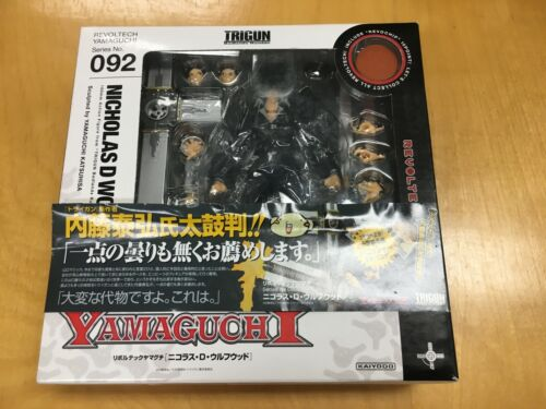 Kaiyodo Revoltech Yamaguchi No. 092 Trigun Nicolas D. Wolfwood Action Figure