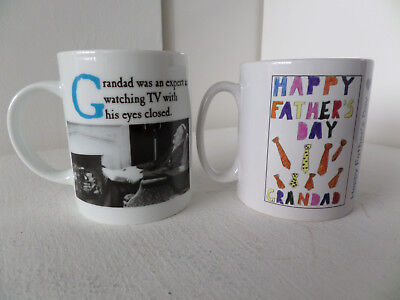 x2 Father's Day Grandad Novelty Mug Tea Coffee Office Cup