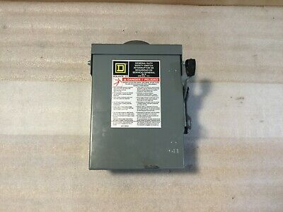 Square D Du222rb Safety Disconnect Switch 60a 240vac Single Throw 2 Pole