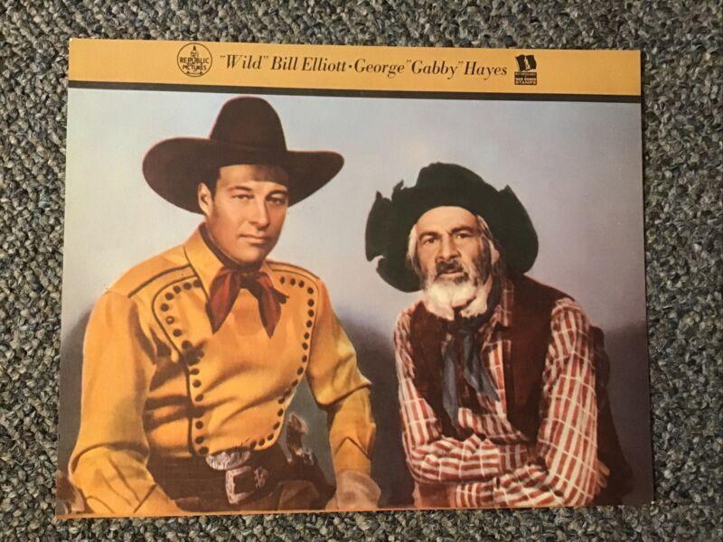 Western Movies Cowboy Wild Bill Elliott Gabby Hayes Promo Photo WWII War Bonds