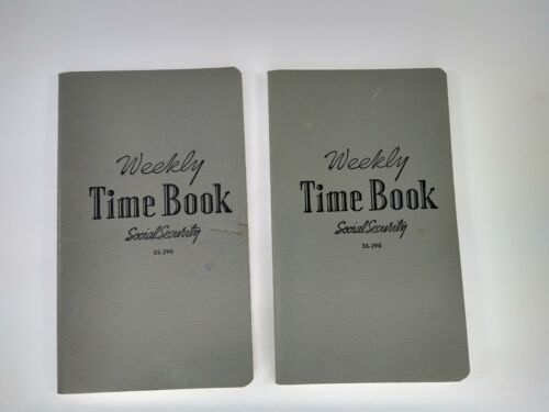 Vintage Ledger Weekly Time Book is Unmarked & Has Calculated Table of Wages