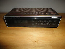Vintage PANASONIC Wood Grain Digital Alarm Clock Radio - Model # RC-6210