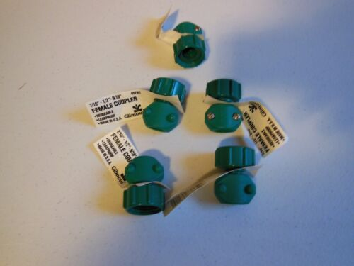 """FIVE 5  New Gilmour 05F  1/2""""  inch Female Garden Hose End Repair Coupling 05FBC"""