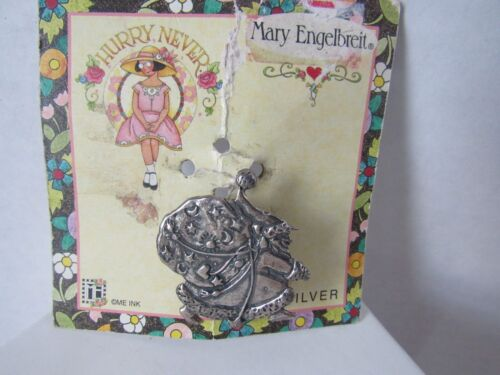 Mary Engelbreit Sterling Silver Santa Claus Pin Brooch Vintage NWT