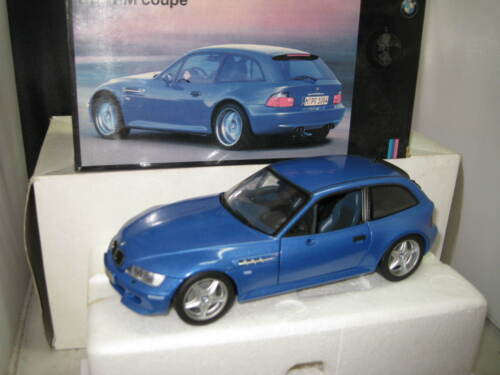 UT 1/18  BMW M COUPE BLUE BMW DEALERS BOX  OLD STOCK  SOME  ISSUES