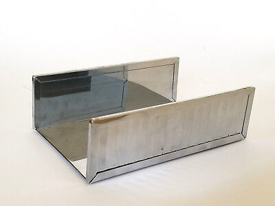 Mirrored Guest Towel Tray (Guest Towel Napkin Tissue Holder Vintage Stylebuilt Tray Mirrored Silver)
