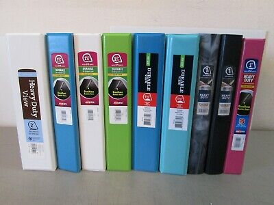 New 9 Lot Various Sizes Binders 1 1.5 2