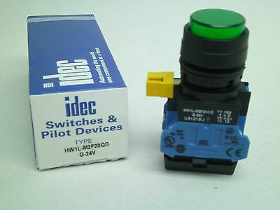 New Idec Hw1l-m2f20qd-g-24v Industrial Pushbutton Switch Onoff Free Ship Rc