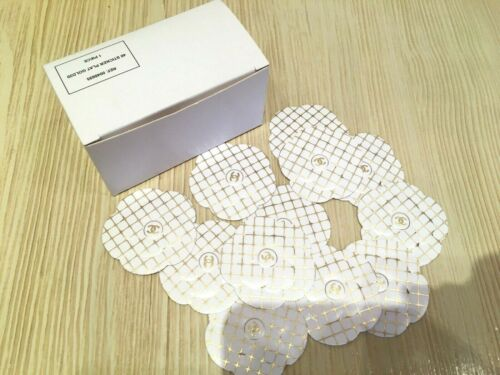 NEW RARE 2020 CHANEL PACK of 48 PIECES PAPER STICKERS WHITE/GOLDEN CAMELLIA