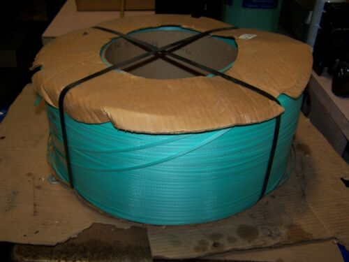 "NEW DYNARIC DURA-STRAP GREEN STRAPPING 9""X8"" CORE 5.8"" WIDTH  23,000"