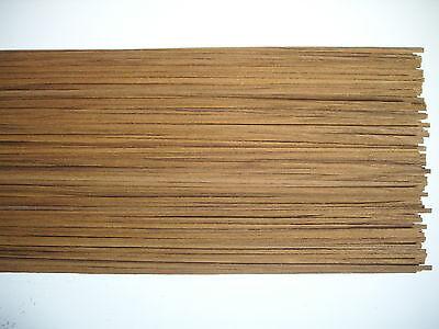50 Holzleisten Teak   800 x 5 x 0,6 mm