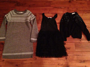 Girls dresses (2) and sweater cardigan size 10-12