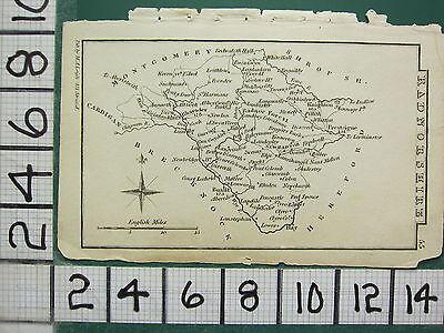 c1833 GEORGIAN MAP ~ RADNORSHIRE ~