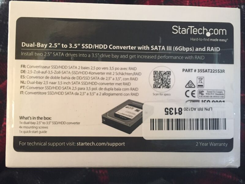 STARTECH.COM 35SAT225S3R DUAL BAY 2.5-3.5IN SSD HDD With SATA III and RAID