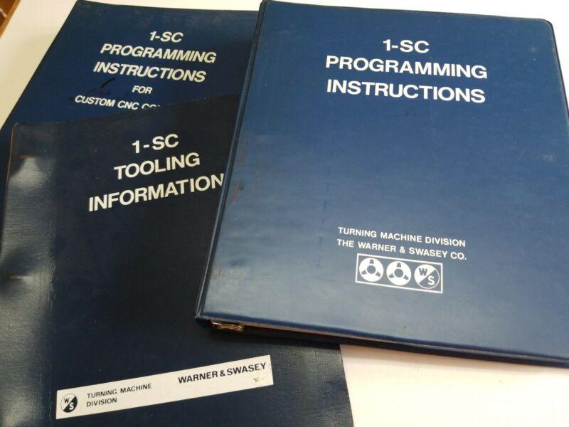 Set Of 3 Warner & Swasey 1-SC Manuals: See Description