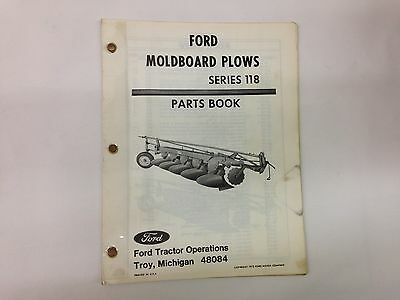 Ford Fordson Tractor Series 118 Moldboard Plow Parts Book