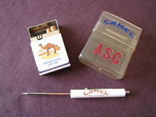 CAMEL Collectibles Lighter- Case & Mini Screwdriver - Lot of 3 Vintage