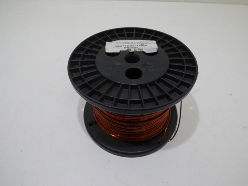AWG 14 Copper Magnet Wire H200 MW35/200C 5-6lbs BAE Wire & Insulation
