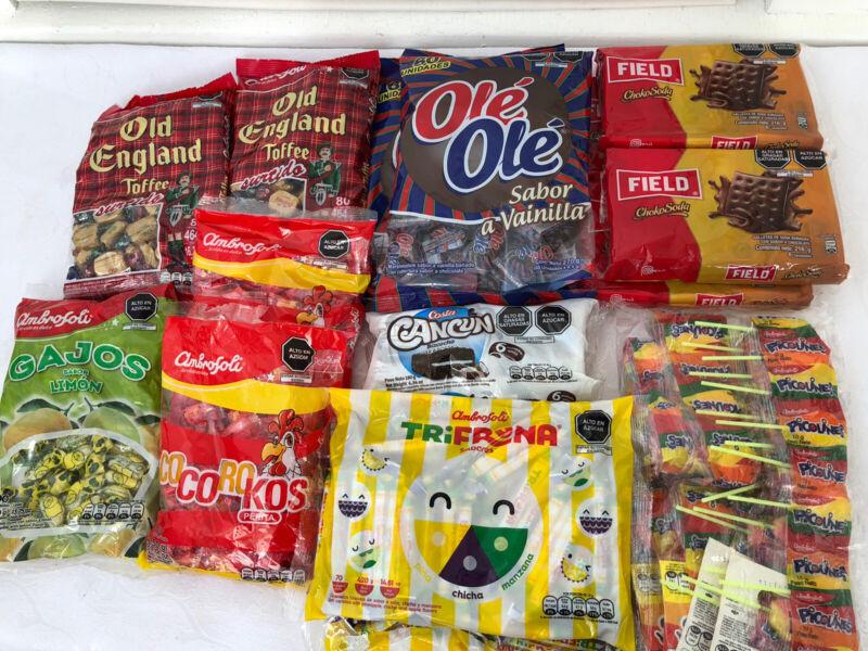 Peruvian Candy Box 22pc Assortment Peru Cookies Chocolates Inka Kola Sweet Treat