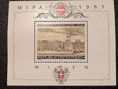 Briefmarken - Österreich - 4 x Block WIPA 1981 in Wien - postfrisch